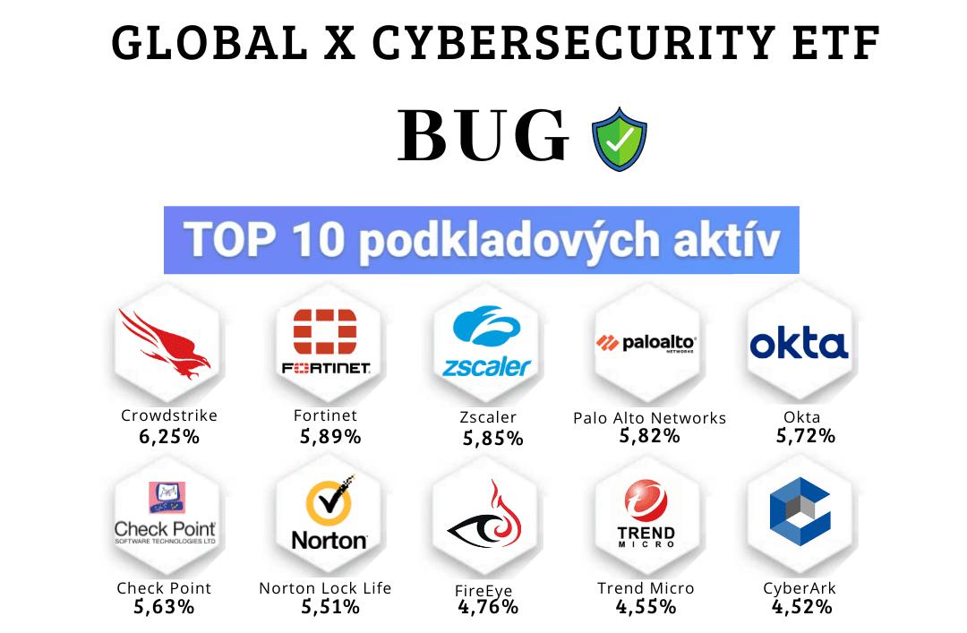 Najlepšie kyberbezpečnostné ETF fondy - BUG