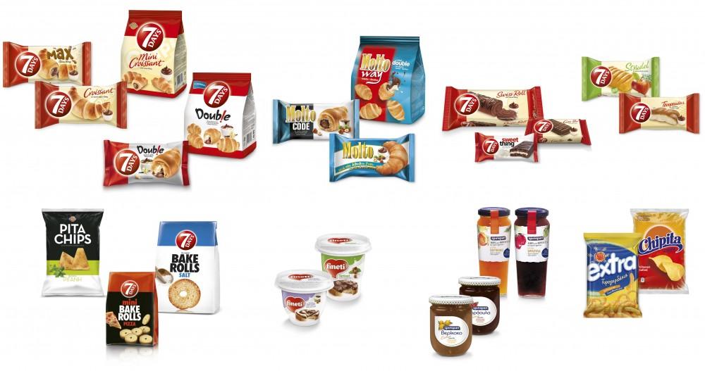 Chipita značky a produkty: 7Days, Fineti, Chipicao