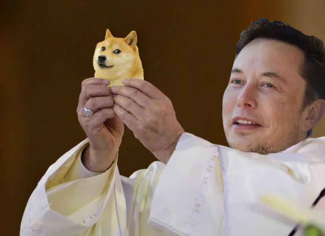 Dogecoin hore o 10%  vďaka tweetom Elona Muska